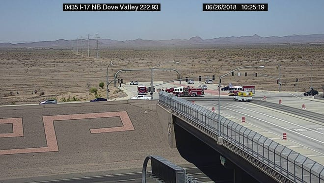 Three people were in a small airplane when it crashed near Interstate 17 on June 26, 2018.