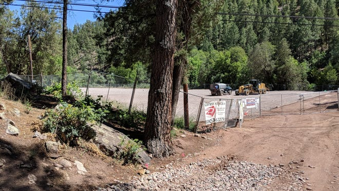 A view of the Camp Tontozona field under renovation at July 2018.