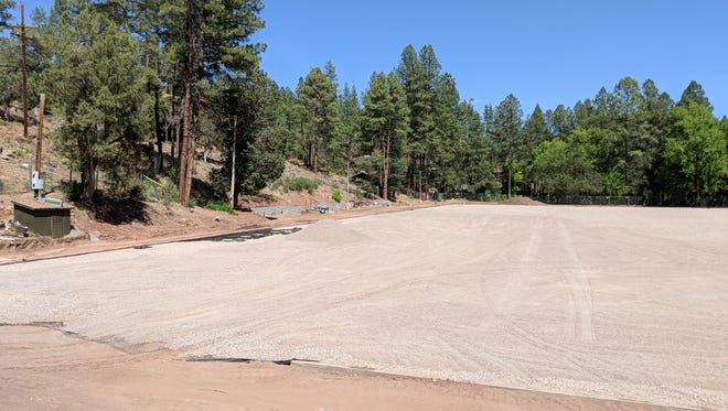 A view of the Camp Tontozona field under renovation in July 2018.
