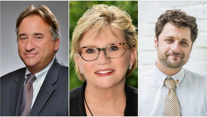 Vice mayoral candidates Jim Shulman, Sheri Weiner and Matt DelRossi