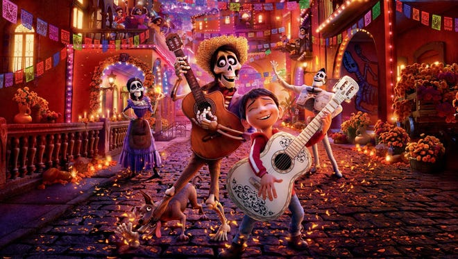 """Downtown Movie Night will feature """"Coco"""" near duskFriday, Aug. 31, at the parking lot at 17 E. Twohig Ave. There will be a bike giveaway and free T-shirts.Cost: Free. Information: downtownmovienight.com."""