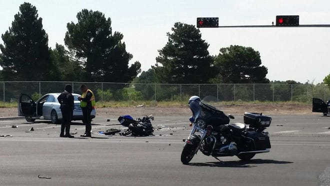 Las Cruces police are investigating a motorcycle crash that happened Monday, July 30, at the intersection of Las Alturas Drive and University Avenue.