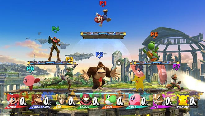 """""""Super Smash Bros."""" on the Wii U ups the ante by allowing up to eight players to battle."""