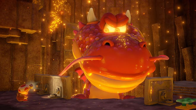 """Fun adventuring and puzzle solving is the name of the game in """"Captain Toad: Treasure Tracker"""" for the Nintendo Wii U."""