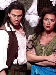 """John Riesen and Gillian Lynn Cotter (Riesen) performed in the Shreveport Opera's production of """"Carmen."""" The former resident artists are among the many artists impacted by the closure of theaters, amid the coronavirus outbreak."""