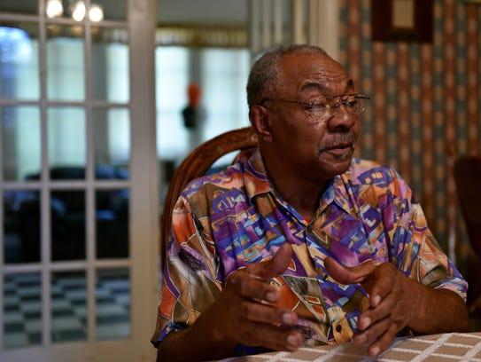 Former Tchula mayor Eddie Carthan sits inside his home