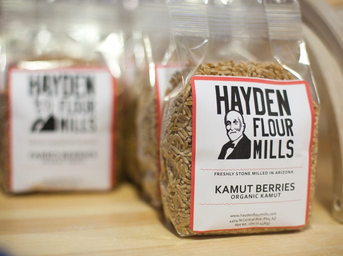 Bags of Hayden Flour Mills products are seen at Pane Bianco in Phoenix, AZ on Monday, July 2, 2012.
