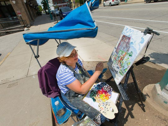 Plein-air painting, art-making in the open air, is