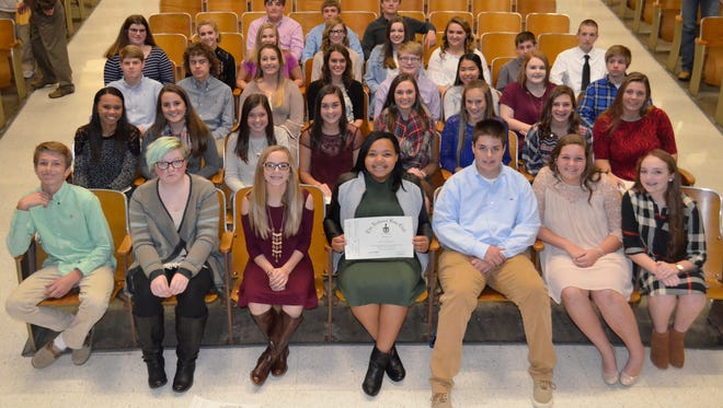 New inductees for the National Senior Beta Club.