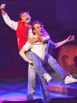 """Colin Grumney as Ram and Jack Powell as Kurt in """"Heathers: The Musical."""""""