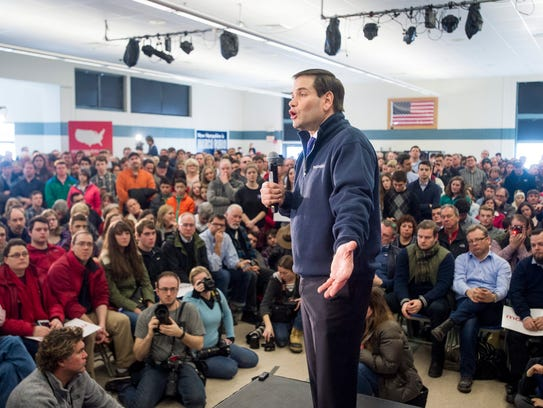 Marco Rubio campaigns at Londonderry High School in