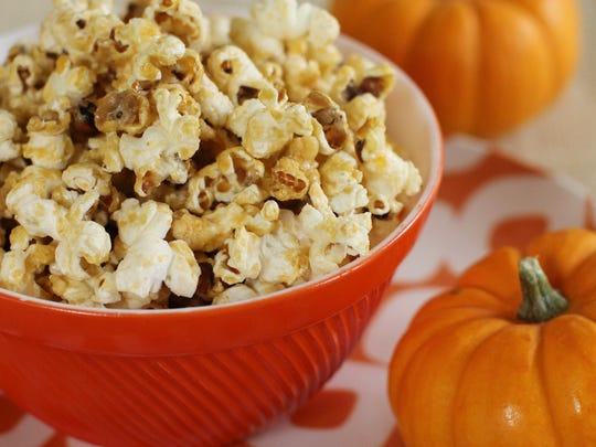 Spicy blue cheese popcorn.