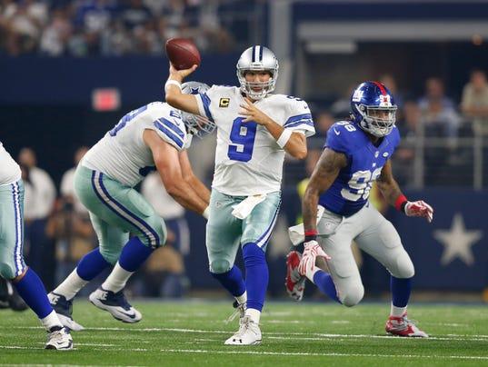 USP NFL: NEW YORK GIANTS AT DALLAS COWBOYS S FBN USA TX