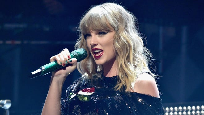 "Pop singer/songwriter and new ""Cats"" movie cast member Taylor Swift performs at Ford Field on Tuesday."