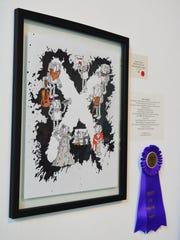 "This piece by Jet Victory won Best in Show at Davis Art Center's new ""X"" art exhibit."