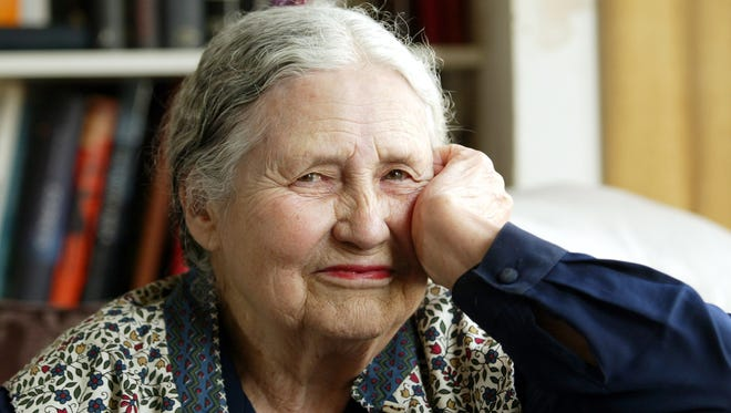 Doris Lessing, 86, is interviewed in her home in  London in 2006.