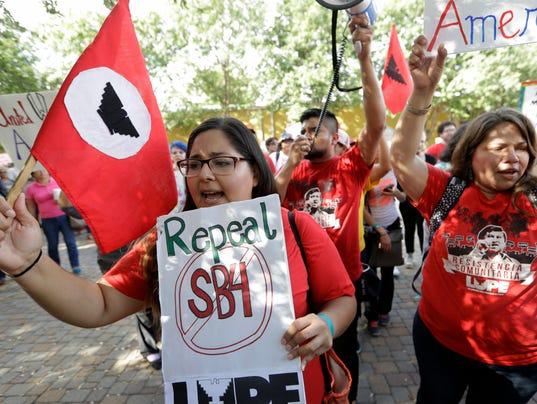 Sanctuary cities ban protest