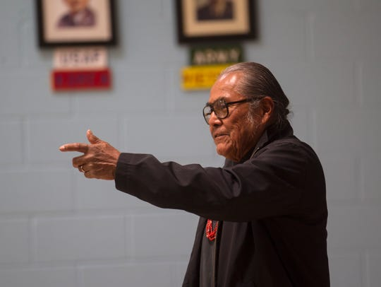 "Shiprock Chapter President Duane ""Chili"" Yazzie makes"