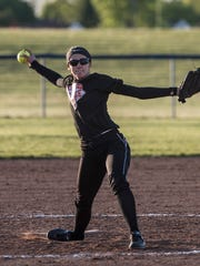 Paige Hanson threw a complete game and had two hits