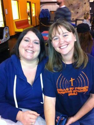 Beth Bond (left) with her former friend, Shawna Beauchamp