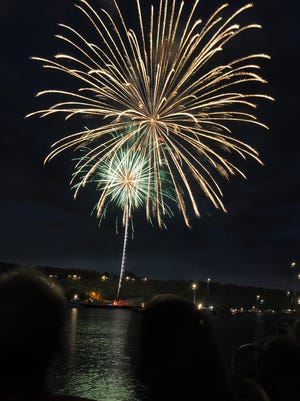 Fireworks during a past Fourth of July celebration in Egg Harbor.