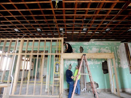 Construction for Ridgeway Square in downtown Shreveport