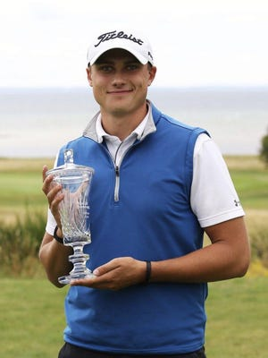Texas Tech's Ludvig Aberg claimed his second professional tournament in two weeks after carding a 15-under-par to win the Barsebäck Resort Masters title Thursday in Sweden.