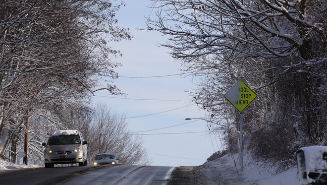 Jessica Fox, 45, of Penfield was struck by a vehicle on Penfield Road, east of Salt Road in December. Police are still searching for the vehicle that hit Fox.