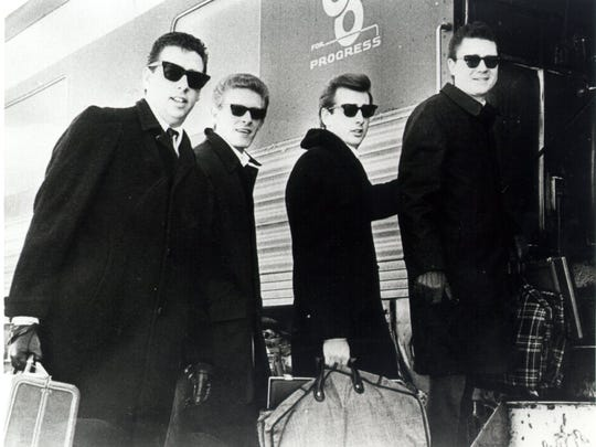 Harold, Phil, Don and Lew board a train in Staunton bound for Nashville in 1964.