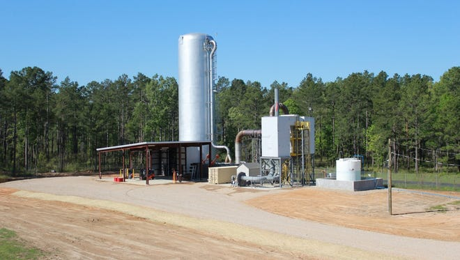 The contained burn chamber facility located on Camp Minden, Minden, La., that will be used to dispose of 15 million pounds of M6 propellant.