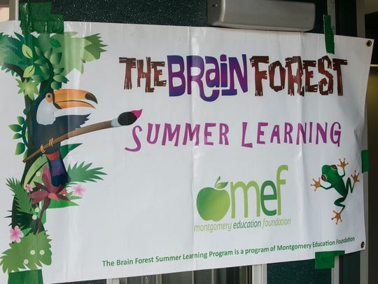 Officials gathered Thursday, July 16, 2015, at Carver High School in Montgomery to discuss the Brain Forest Summer Learning program, a pilot program of the Montgomery Education Foundation.
