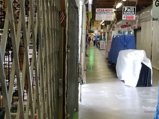 Many shops remain closed for re-opening of Flamingo Island Flea Market.