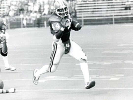 IU's leading rusher in 1980, Lonnie Johnson.
