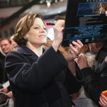 "Sigourney Weaver attends a fan event for ""Chappie"" at Mall of Berlin in Berlin, Germany."