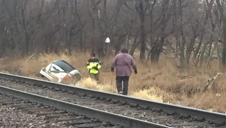 One passenger died when a taxi drove off the road and into a ravine northeast of Des Moines early Thursday, authorities said.