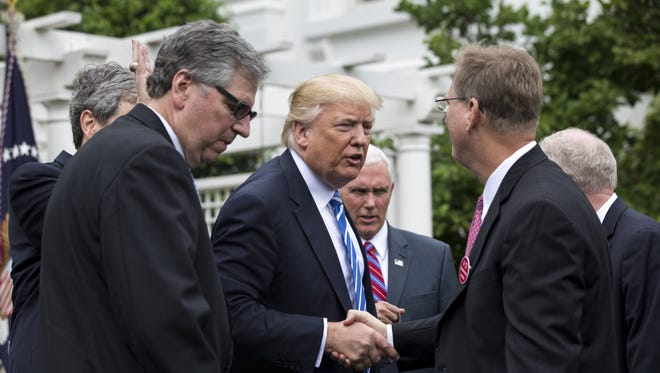 President Trump at the White House on May 1, 2017.