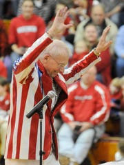 Director Michael Leckrone will lead the University of Wisconsin Varsity Band when it performs Sunday at Wausau East High School.