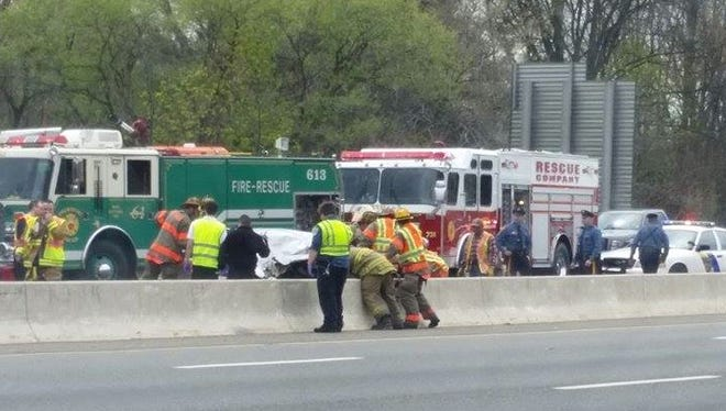 A serious accident backed up traffic on I-295 in West Deptford Thursday afternoon.