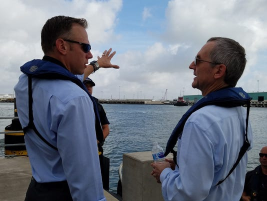 Railroad Commissioner visits Corpus Christi