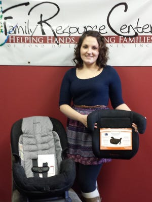 Kelley Baker, staff member at Fond du Lac's Family Resource Center is a certified car seat and booster seat technician.