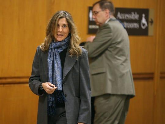 Monica Seles, wife of Tom Golisano, is a witness in