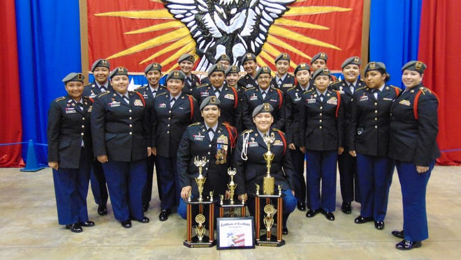 North Salem High School's Lady Vikings unarmed drill team placed third overall at the National High School Drill Team Championships on April 30 in Daytona Beach, Florida.
