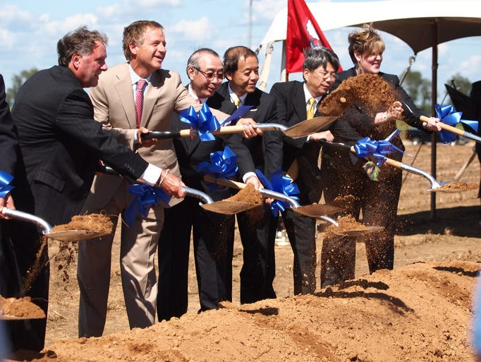 Pacific Industrial Co. LTD made its commitment to Jackson official with a groundbreaking held at Airport Industrial Park on Tuesday.