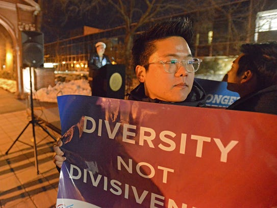 Ramapo College held a 'Unity Rally' Thursday in protest