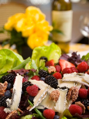 Salads made with a variety of berries and spinach are a tradition at Arcadia Farms in Scottsdale.