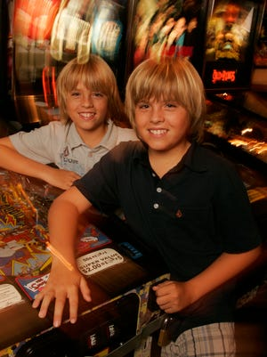 Twins Cole (back) and Dylan Sprouse in 2005.