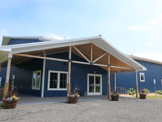 Greece's Blue Barn Cidery is slated to open in August.