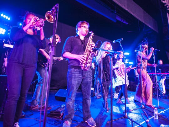 The Nephrok Allstars perform at Contois Auditorium during the Discover Jazz Festival in Burlington on Friday.