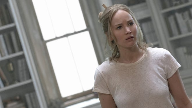 Jennifer Lawrence stars as a wife whose peaceful existence becomes undone by uninvited strangers in 'mother!' (Sept. 15).