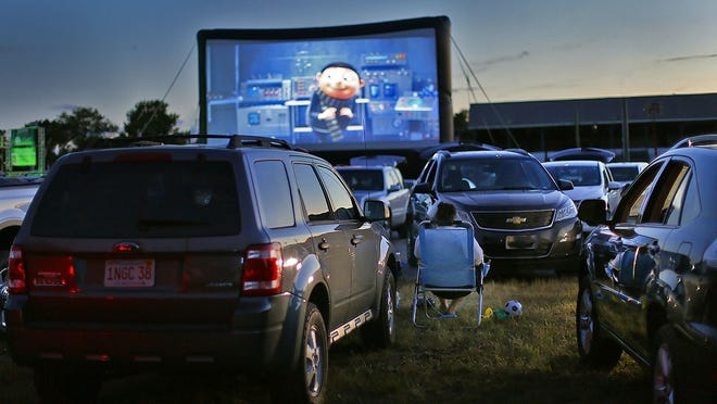 The opening night of the pop up drive-in at the Marshfield Fairgrounds, featuring Trolls World Tour, was sold out on Thursday, June 24, 2020. Greg Derr/The Patriot Ledger